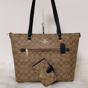 New💃Coach Gallery Tote Purse and wallet Set